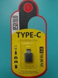 Cabo OTG V8 e tipo C, vários modelos e entradas. Adaptador OTG / USB