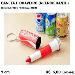 Caneta e Chaveiro Pepsi, Sprite, Red Bull