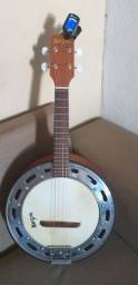 Banjo Rozini Rj14 Com Afinador e apostilas do iniciante ao avançado.