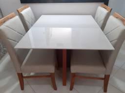 Mesa confort de 4 lugares nova completa