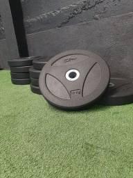 Título do anúncio: Kit anilha Bumper Crossfit - 100 kg.