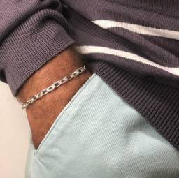 Pulseira Masculina de Prata 925 Legítima