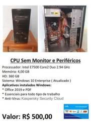 CPU sem monitor