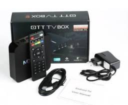 TV Box 4k padrão 4K 32gb preto com 4gb RAM