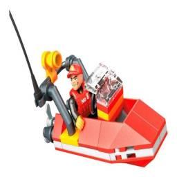 Blocos de montar  bote de resgate  Mega Construx  GMB83 mattel