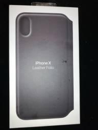 Capa de couro IPhone X