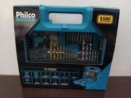Kit de ferramentas e brocas completo Philco Force 70 Peças