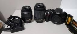 Nikon D5200 Lente 18-55 e Lente 55-200