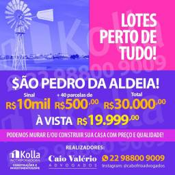 São Pedro da Aldeia, lote 360m2 show!