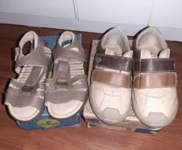 2 pares de calçados menino, tamanho 27