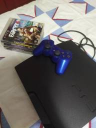 Playstation 3 + Controle + Jogos