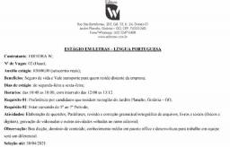 Estágio em Letras - Língua Portuguesa