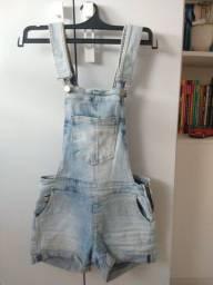 jardineira / macacão jeans tam 34