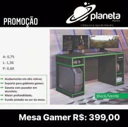 Mesa Gamer Black/Verde Promoção