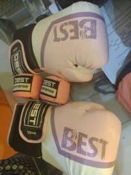 Luva de boxe e kick boxing