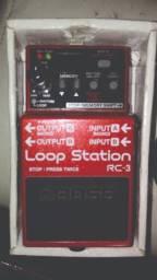 Loop Station Boss na caixa com fonte original