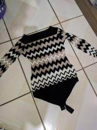 blusa suéter body