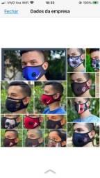 Máscara de velcro
