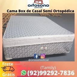 Cama Box de Casal Semi Ortopédica, Entrega Grátis