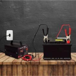Carregador De Bateria 12 volts Carro, Lancha, Barco E Moto 10 a Com Voltímetro
