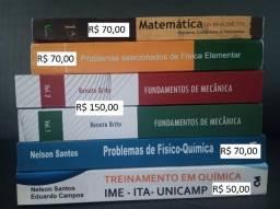 Livros de Matemática, Física e Química