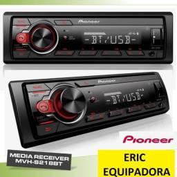 Auto Radio Pioneer 218Bt com Bluetooth  Top - Super  Promoçã0 Já Instalado  -  Me Liga