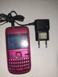 Nokia C3 com carregador