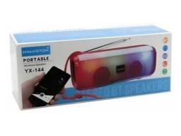 Caixa de Som Bluetooth LED Hmaston com Antena e FM