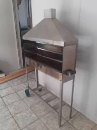 Churrasqueira de inox, para churrasquinho.