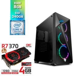 PC Gamer Medium i3 7100+8GB+256SSD+4GB gpu