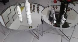 Centro de inox com tampo espelhado