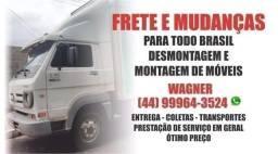 Frete, mudanças, transportes, prestação de serviços em geral, para todo Brasil