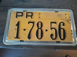 Placa de carro antiga do pr