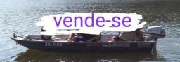 Barco de Alumínio Big Fish 3,50 metros + Motor Honda 5 HP 4 tempos