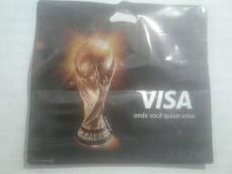 Kit 100 sacolas personalizadas copa do mundo