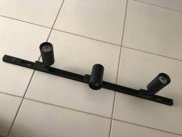 Kit trilho eletrificado 1 metro + 3 spots led 7w nunca usado