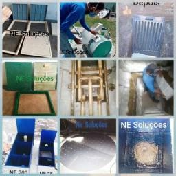 Manutenção de estação de tratamento de água  (ETA) e esgoto  (ETE).