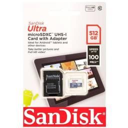 Cartão De Memória Sandisk Ultra Com Adaptador Sd 512gb