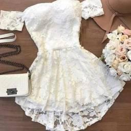 Macaquinho renda Branco Novo Tamanho P (veste 36)