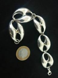 Pulseira grossa de prata, linda (Aceito cartão/troca)