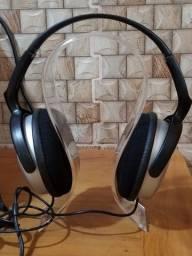 Usado Original Headphone Philips SHP2500/10 Fone de ouvido com fio