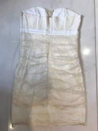 vestido renda off white tamanho 40 shop 126