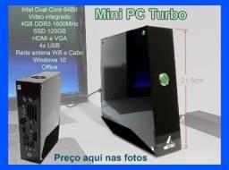 Mini PC Turbo intel 4gb-ddr3 120gb-ssd win10
