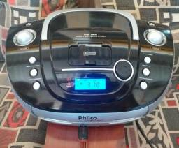 Boombox Philco, com CD player, entrada USB, entrada de áudio e rádio digital