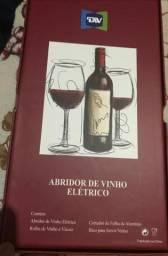 Abridor De Vinho Saca Rolha Elétrico A Pilha Wine Inox Full