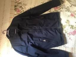 Jaqueta azul de algodão