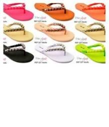fd293bb8d9 Kit pares de sandália rasteira neon para revenda