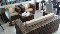 Sofá e poltrona de área externa