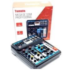 Mesa De Som Bluetooth Usb Mixer Mp3 6 Canais Tyt-006 Mini
