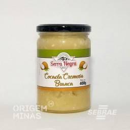 Cocada Branca Cremosa - Pote 400 g | Serra Negra Doces